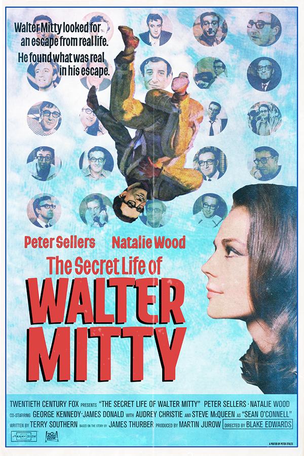 """I sogni segreti di Walter Mitty"", diretto da Blake Edwards, starring Peter Sellers Peter Stults"