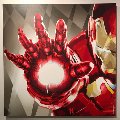 Stark industries - Raptuz - spray su tela - 2017