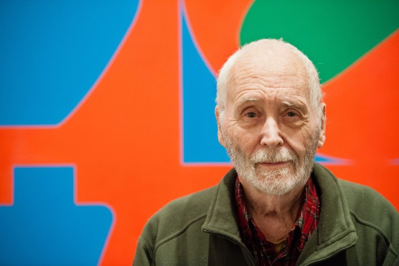 "Mandatory Credit: Photo by Lauren Casselberry/AP/REX/Shutterstock (6200008b) Robert Indiana Artist Robert Indiana, known world over for his LOVE image, is interviewed in front of that painting at New York's Whitney Museum of American Art. Surrounded by 95 works he created over the past five decades, Indiana, who turned 85 this month, calls the retrospective ""a dream come true, a little late Robert Indiana Beyond LOVE, New York, USA"